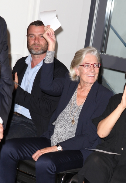 Liev Schreiber and Vanessa Redgrave  at Complete Vanessa Redgrave, Liev Schreiber, and More at Revitalized Public Theater Unveiling