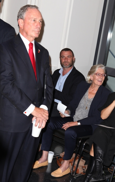 Mayor Michael Bloomberg, Liev Schreiber and Vanessa Redgrave