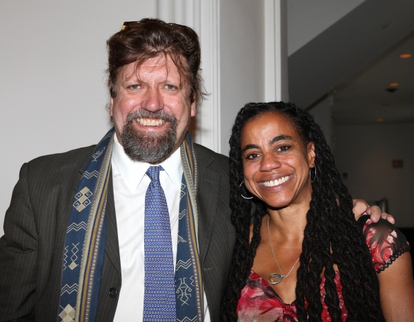 Oskar Eustis and Suzan-Lori Parks at Complete Vanessa Redgrave, Liev Schreiber, and More at Revitalized Public Theater Unveiling