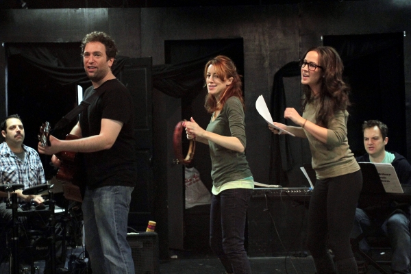 David Rossmer, Kate Wetherhead, Hannah Elless at In Rehearsal with THE OTHER JOSH COHEN