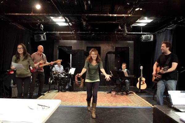 Hannah Elless, Ken Triwush, Steve Rosen, Kate Wetherhead, Vadim Feichtner, David Rossmer at In Rehearsal with THE OTHER JOSH COHEN
