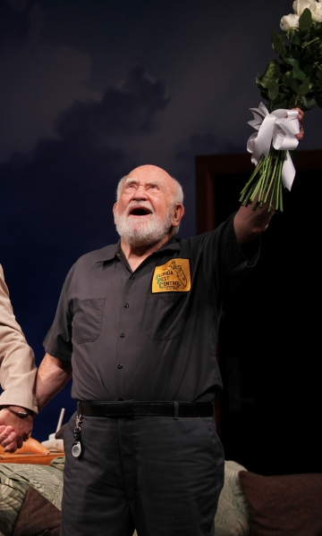 Ed Asner  at GRACE Opening Night Curtain Call