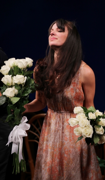 Kate Arrington  at GRACE Opening Night Curtain Call