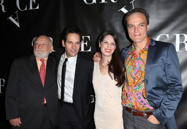 Ed Asner, Paul Rudd, Kate Arrington and Michael Shannon  at GRACE Opening Night After Party