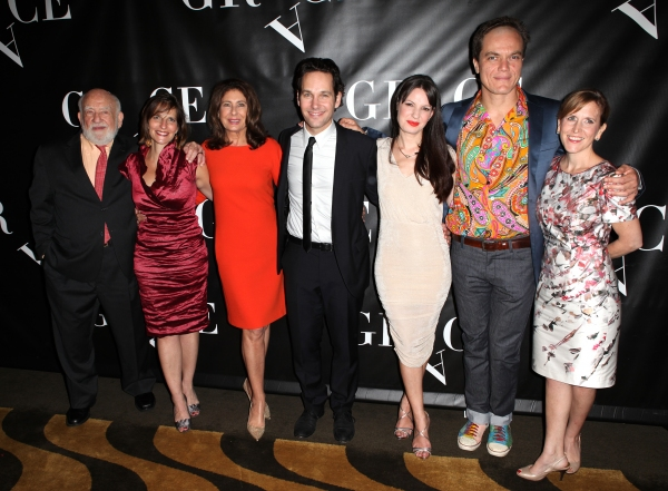 Ed Asner, Debbi Bisno, Paula Wagner, Paul Rudd,  Kate Arrington, Michael Shannon and  Kristin Caskey  at GRACE Opening Night After Party