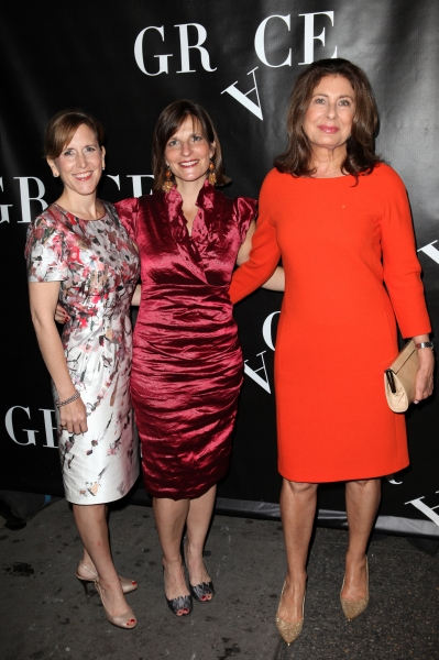 Kristin Caskey, Debbi Bisno and Paula Wagner  at  GRACE Opening Night Red Carpet Arrivals