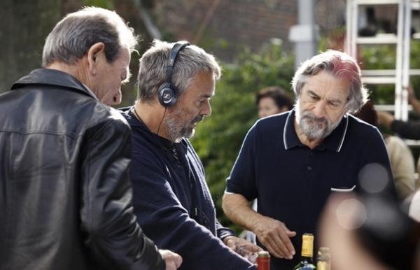 Luc Besson, Robert De Niro at Behind-the-Scenes of Luc Besson's MALAVITA