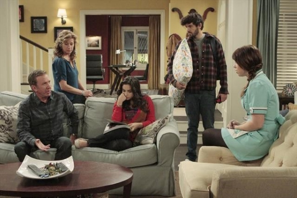 TIM ALLEN, NANCY TRAVIS, MOLLY EPHRAIM, JORDAN MASTERSON, AMANDA FULLER    at First Look at 11/2 Episode of LAST MAN STANDING