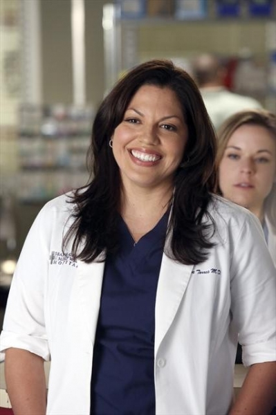 SARA RAMIREZ at Behind-The-Scenes Look at Last Night's GREY'S!