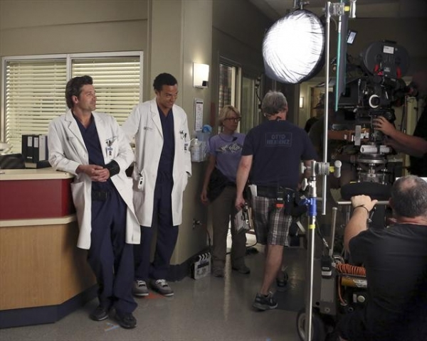 PATRICK DEMPSEY, JESSE WILLIAMS    at Behind-The-Scenes Look at Last Night's GREY'S!