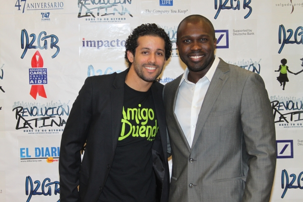 Luis Salgado and Joshua Henry  at Amigo Duende  Opening Night