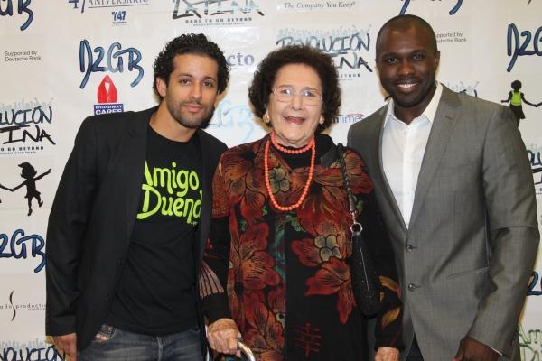 Luis Salgado, Fatima Lugo De Marichal and Joshua Henry  at Amigo Duende  Opening Night