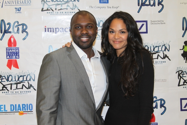 Joshua Henry and Karen Olivo  at Amigo Duende  Opening Night