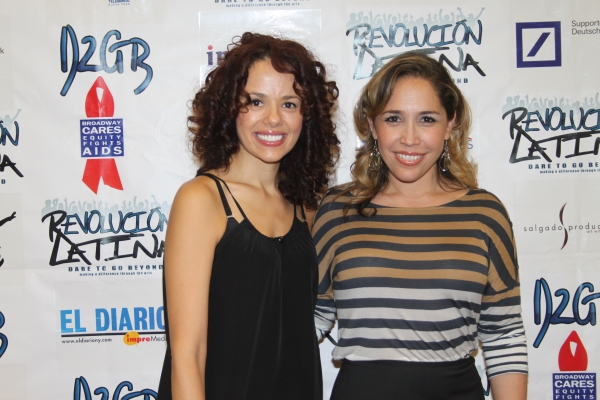 Janet Dacal and Andrea Burns   at Amigo Duende  Opening Night