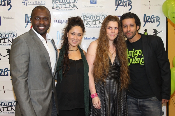 Joshua Henry, Valeria Cossu, Heather Hogan and Luis Salgado  at Amigo Duende  Opening Night
