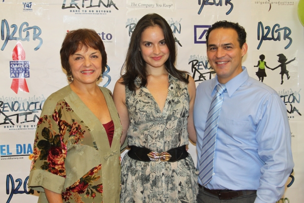 Priscilla Lopez, Gabriela Fanuele and Ruben Flores  at Amigo Duende  Opening Night