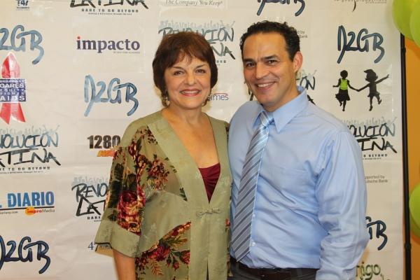 Priscilla Lopez and Ruben Flores   at Amigo Duende  Opening Night