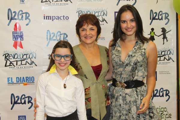 Fatima Ptalek, Priscilla Lopez and Gabriela Fanuele  at Amigo Duende  Opening Night