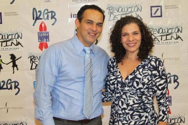 Ruben Flores and Blanca Camacho  at Amigo Duende  Opening Night