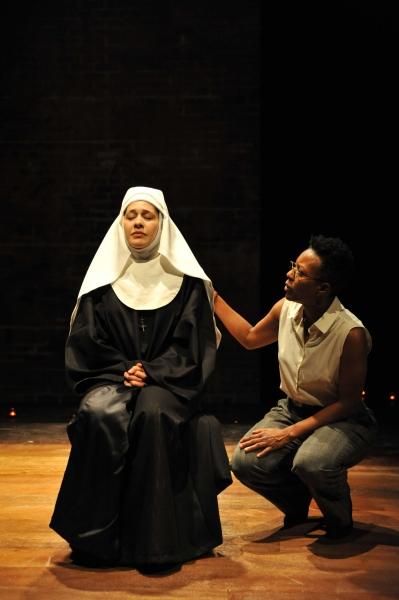 """Sadieh Rifai as �""""Sister Agnes"""" and Penelope Walker as �""""Doctor Livingstone"""""""