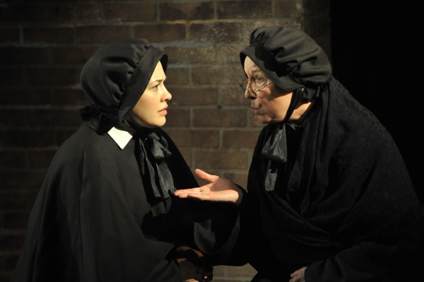 "Sadieh Rifai as ""Sister James"" and  Kate Skinner as ""Sister Aloysius"""