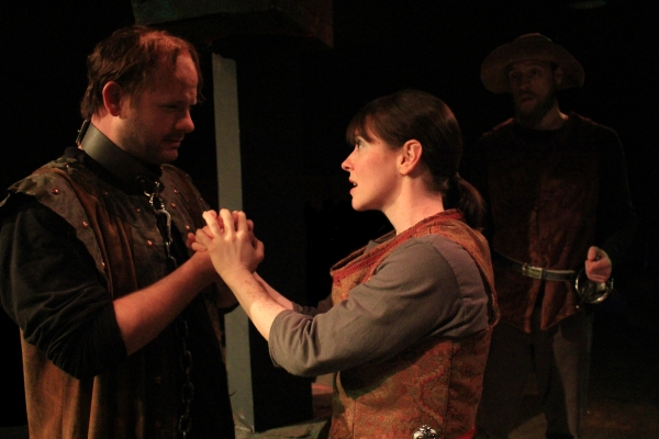 Segismundo (David Wald), Rosaura (Beth Lazarou), and Clarín (Philip Hays)