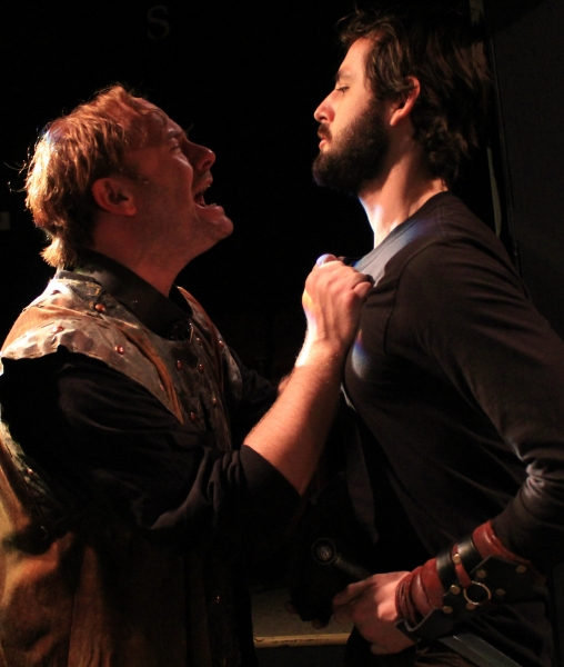Segismundo (David Wald) and a soldier (Bobby Haworth)