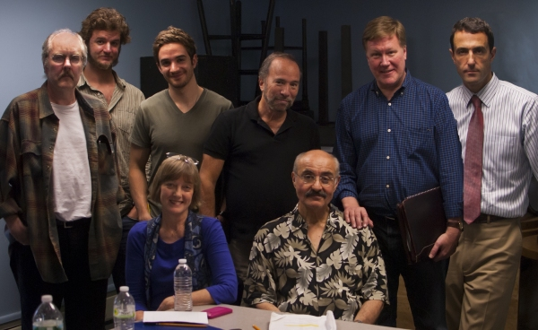 Brad Bellamy, Mark Hoffner, AJ Cedeño, Lucy McMichael, playwright Mike Vogel, Tom Mardirosian, director Donald Brenner, and Mark Doherty