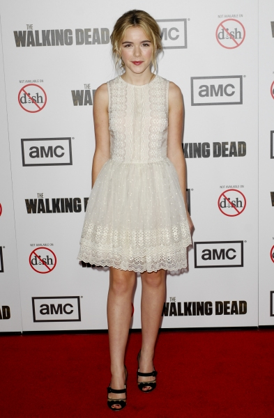 Kiernan Shipka 'The Walking Dead' Season 3 TV Series premiere (Photo by Picture Perfect / Rex USA) at Fashion Photo of the Day 10/6/12 - Kiernan Shipka
