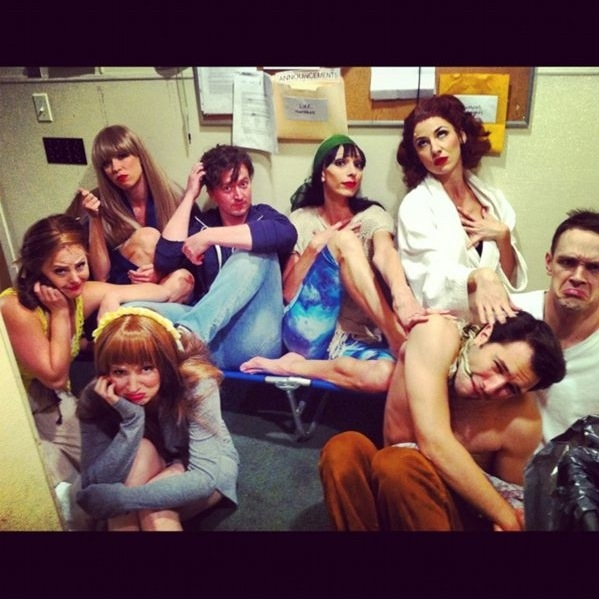 Photo Flash: Saturday Intermission Pics, Oct 6 -  Perez Hilton's Last NEWSical Shot, ANYTHING GOES' First Tour Pic and More!