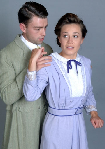 Casey Hoekstra as John and Joanna Harmon as Alma