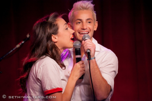 Miranda and Frankie Grande