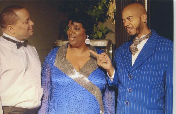 Daron Gilmore as Lucky, Zedri Whaley as The Queen, and E'Tian Parker as Slim Daddy.