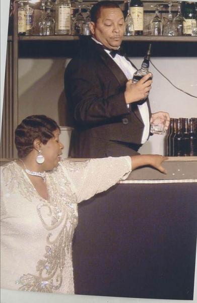 Zedri Whaley as The Queen and Daron Gilmore as Lucky.