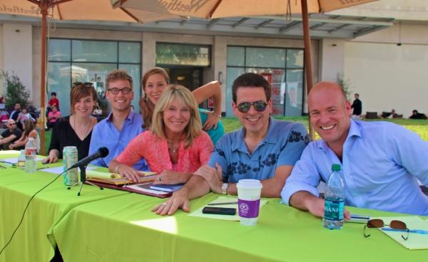 Renee Felice Smith, Barrett Foa, producers Becky Baeling and Bonnie Lythgoe, Michael Photo