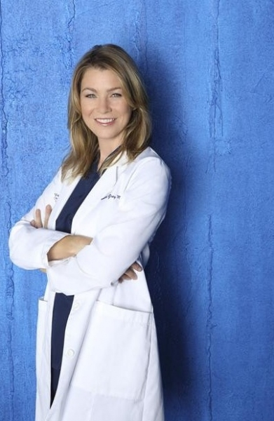 Ellen Pompeo at Cast Photos for ABC's GREY'S ANATOMY Season 9