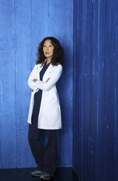 Sandra Oh at Cast Photos for ABC's GREY'S ANATOMY Season 9