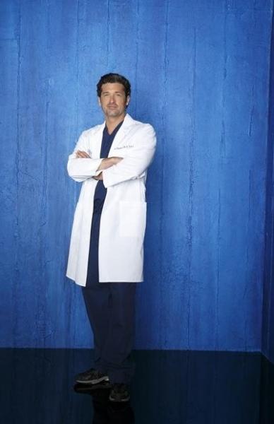 Patrick Dempsey   at Cast Photos for ABC's GREY'S ANATOMY Season 9