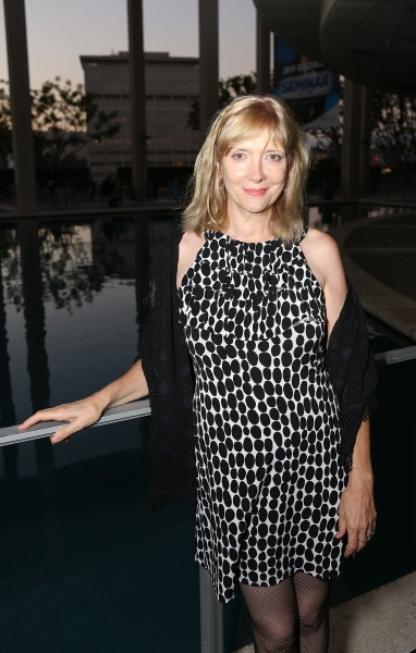 "Glenne Headley poses during the arrivals for the opening night performance of ""November"" at the Center Theatre Group/Mark Taper Forum on Sunday, Oct. 7, 2012, in Los Angeles, Calif. (Photo by Ryan Miller/Capture Imaging)"