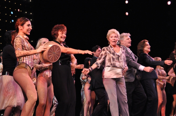 Gabrielle Ruiz, Priscilla Lopez, Mitzi Hamilton, Kelly Bishop, Rachelle Rak and cast members from A Chorus Line now and the original show