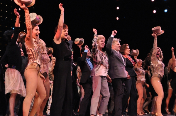 Gabrielle Ruiz, Priscilla Lopez, Mitzi Hamilton, Kelly Bishop, Rachelle Rak and cast members from A Chorus Line now and the original show at Inside Opening Night of A CHORUS LINE at Paper Mill Playhouse!