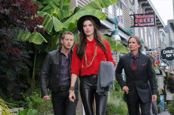 JOSH DALLAS, MEGHAN ORY, ROBERT CARLYLE    at Sneak Peek of ONCE UPON A TIME 's 10/21 Episode
