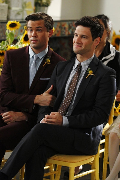 Andrew Rannells, Justin Bartha at First Look - Tonight's Episode of THE NEW NORMAL on NBC