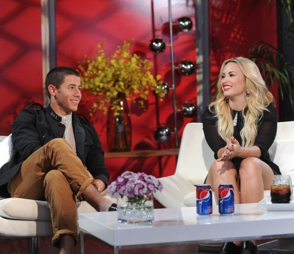 Nick Jonas, Demi Lovato at First Look - Bieber, Jonas, Anthony on X FACTOR 'Judges Homes' Round