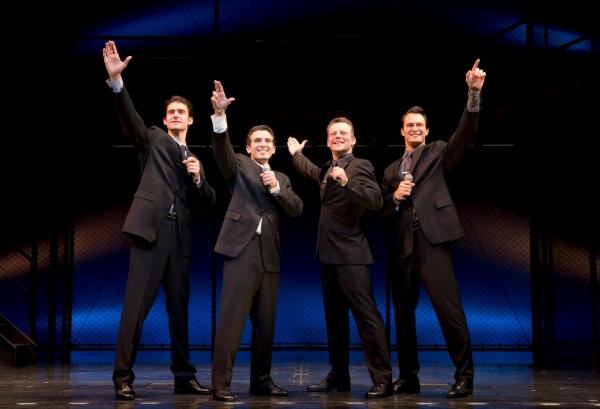 Drew Gehling, Jarrod Spector, Jeremy Kushnier, Matt Bogart at Jarrod Spector, Drew Gehling Return to JERSEY BOYS!