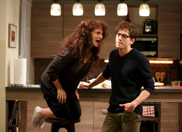 Tracee Chimo and Michael Zegen at First Look at Joshua Harmon's BAD JEWS at Roundabout