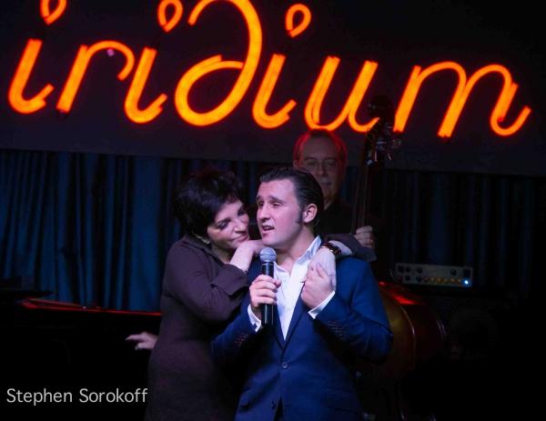 Liza Minnelli & Nicholas King  at Liza Minnelli, Tony Danza Visit Nicholas King at the Iridium