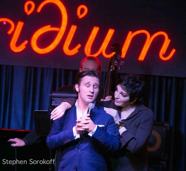 Nicholas King & Liza Minnelli   at Liza Minnelli, Tony Danza Visit Nicholas King at the Iridium