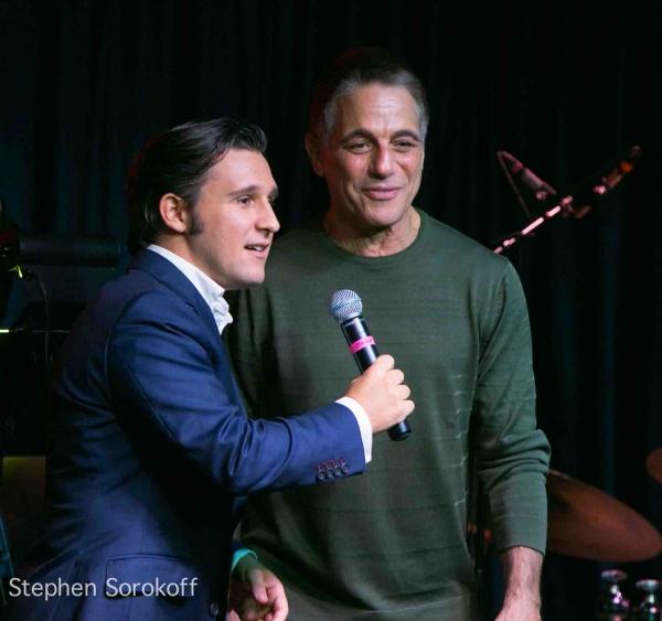 Nicholas King & Tony Danza   at Liza Minnelli, Tony Danza Visit Nicholas King at the Iridium
