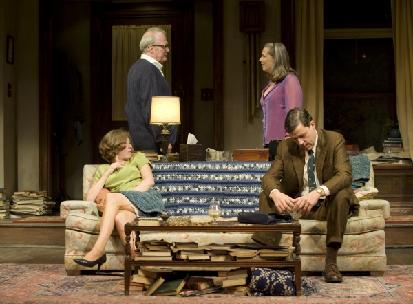 Carrie Coon, Tracy Letts, Amy Morton and Madison Dirks at First Look at WHO'S AFRAID OF VIRGINIA WOOLF?- Production Shots